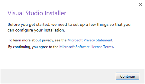 an image of the build tools self installer